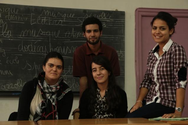 De gauche à droite: Houda, Anas, Nadjlae et Amina