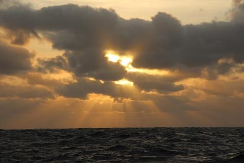 Lever de soleil au large du Sénégal