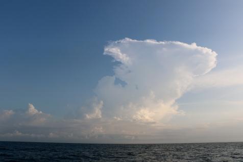 Un cumulonimbus juste avant l'orage