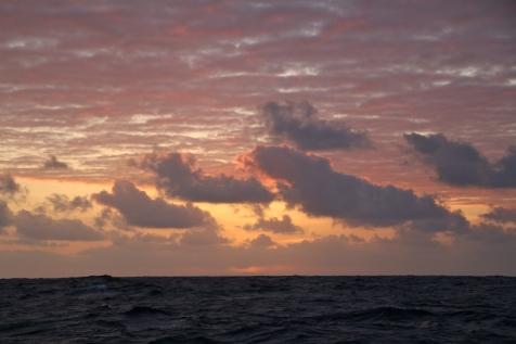Coucher de solei dans le Pacifique