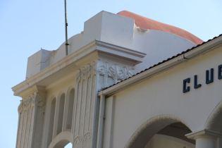 Détail de la façade du Clube Naval